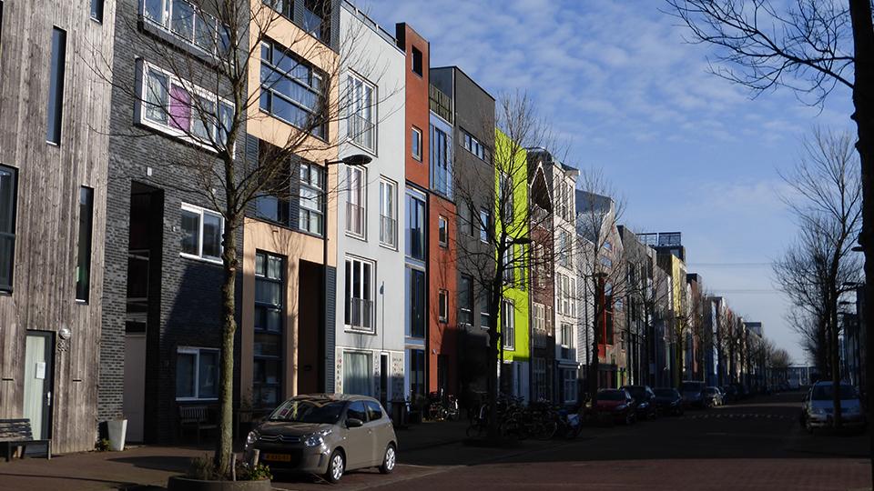 A street in Ijburg, Amsterdam