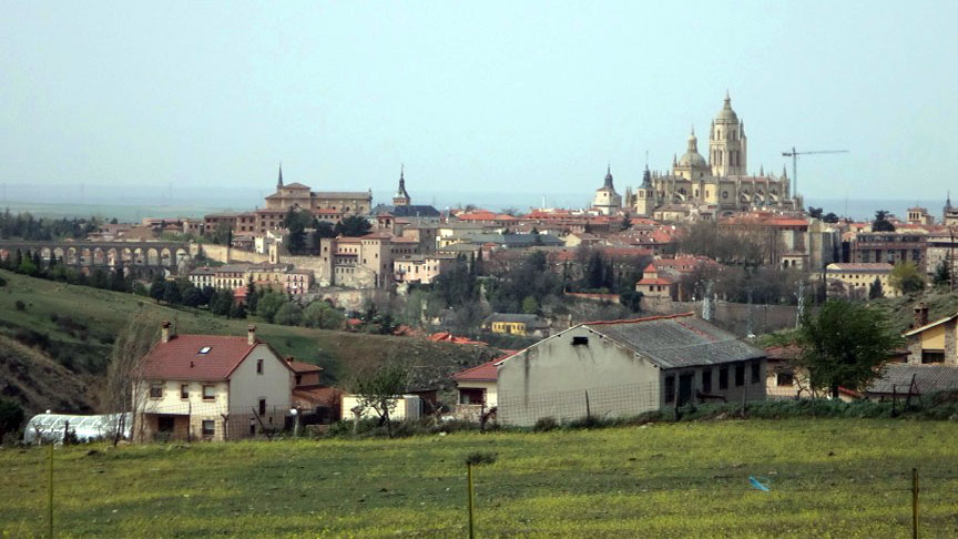 The plots have views over the historic city, and the Roman viaduct